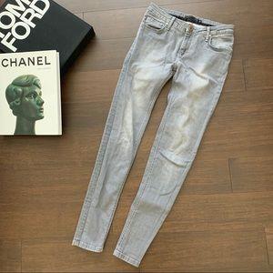 VICTORIA BECKHAM skinny grey jeans